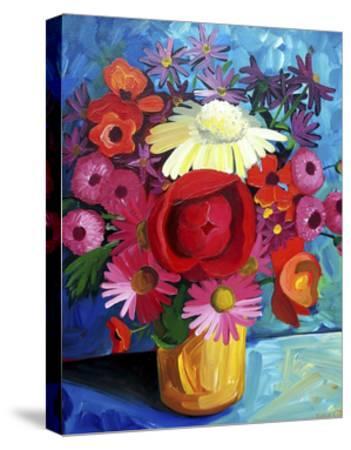 Still Life Gold Vase-Sara Catena-Stretched Canvas Print