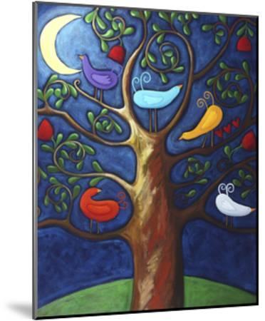 Moon over Lovebirds Family-Sara Catena-Mounted Giclee Print