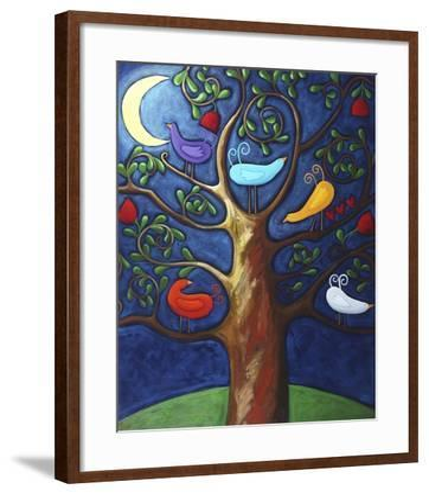 Moon over Lovebirds Family-Sara Catena-Framed Giclee Print