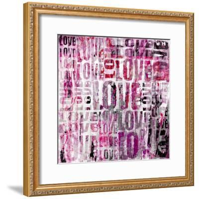 Grunge Love Square-Roseanne Jones-Framed Giclee Print