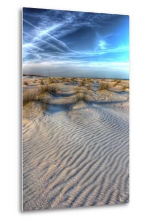 Dune Lines Vertical-Robert Goldwitz-Metal Print