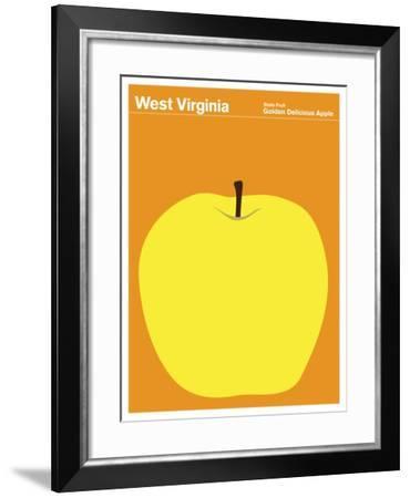 State Poster WV West Virginia--Framed Giclee Print