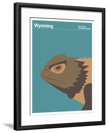 State Poster WY Wyoming--Framed Giclee Print