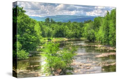 Wallkill Bridge Mountain View-Robert Goldwitz-Stretched Canvas Print