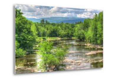 Wallkill Bridge Mountain View-Robert Goldwitz-Metal Print