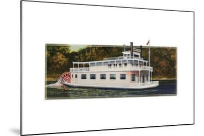 River Boat-Tim Knepp-Mounted Giclee Print