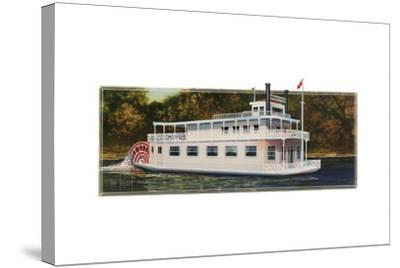 River Boat-Tim Knepp-Stretched Canvas Print