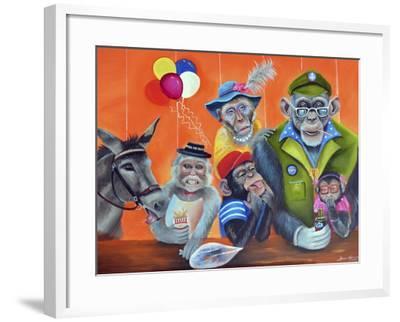Cheeky Monkey-Sue Clyne-Framed Giclee Print