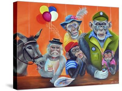 Cheeky Monkey-Sue Clyne-Stretched Canvas Print