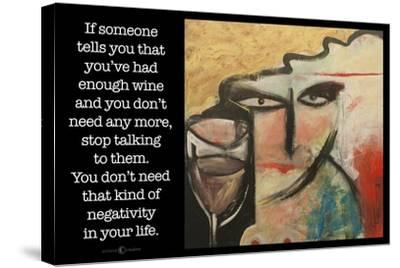 Wine Negativity Poster-Tim Nyberg-Stretched Canvas Print
