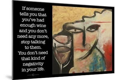 Wine Negativity Poster-Tim Nyberg-Mounted Giclee Print