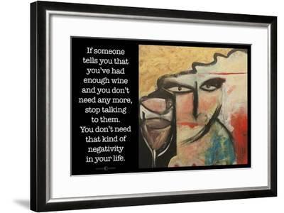 Wine Negativity Poster-Tim Nyberg-Framed Giclee Print