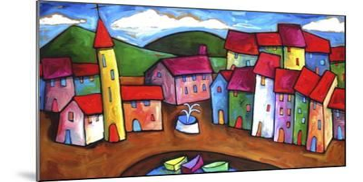 Village in the Costa Brava, Spain-Sara Catena-Mounted Giclee Print