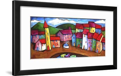 Village in the Costa Brava, Spain-Sara Catena-Framed Giclee Print