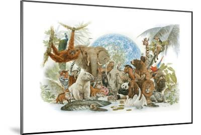 Animal Kingdom-Tim Knepp-Mounted Giclee Print
