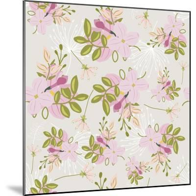 Pink Floral Pattern-Tina Lavoie-Mounted Giclee Print