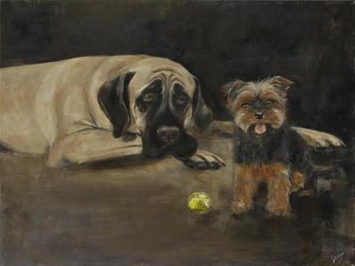 Yorky and Mastif-Solveiga-Framed Giclee Print