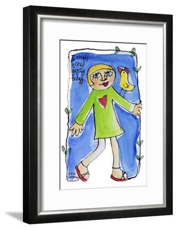 Watercolour Planet - Be Yourself 3-Sara Catena-Framed Giclee Print