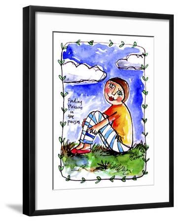 Watercolour Planet - Finding Pleasure 1-Sara Catena-Framed Giclee Print