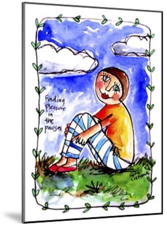 Watercolour Planet - Finding Pleasure 1-Sara Catena-Mounted Giclee Print