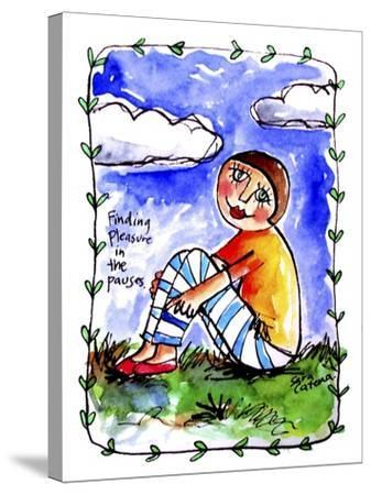 Watercolour Planet - Finding Pleasure 1-Sara Catena-Stretched Canvas Print
