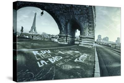 Paris Tennis-Sebastien Lory-Stretched Canvas Print