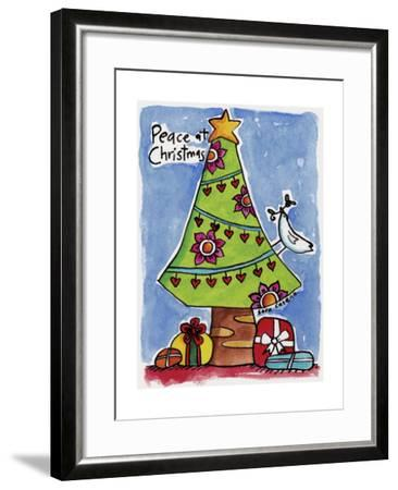 Watercolour Planet - Christmas Peace-Sara Catena-Framed Giclee Print