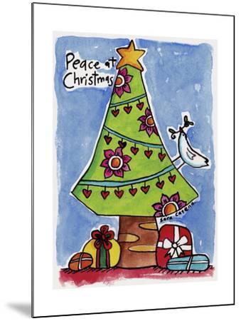 Watercolour Planet - Christmas Peace-Sara Catena-Mounted Giclee Print