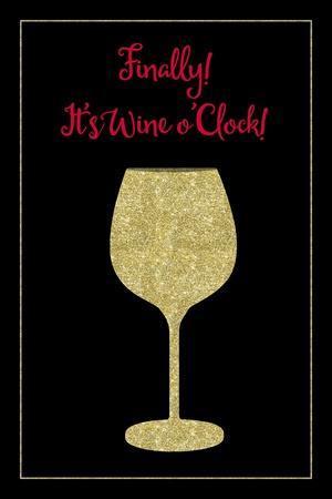 Wine O Clock-Tina Lavoie-Framed Giclee Print