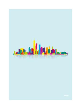 NYC Skyline-Yoni Alter-Framed Giclee Print