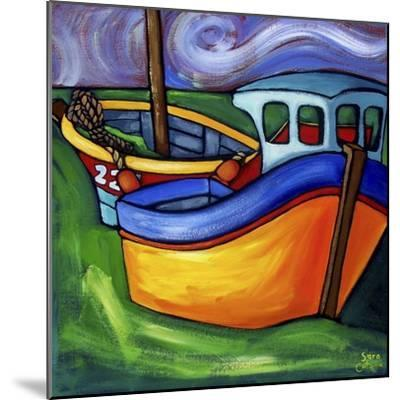 Fishing Boats at Rest #2-Sara Catena-Mounted Giclee Print