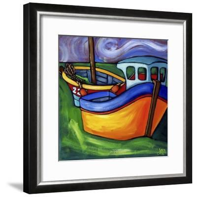 Fishing Boats at Rest #2-Sara Catena-Framed Giclee Print