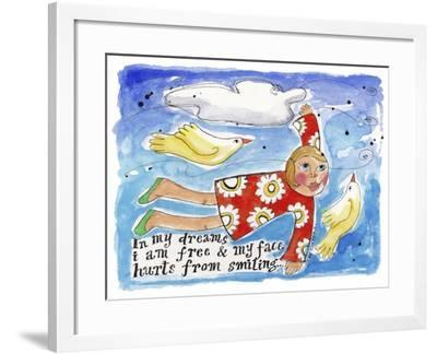 'Watercolour Planet - in My Dreams-Sara Catena-Framed Giclee Print