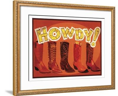 Howdy Boots-Tim Wright-Framed Giclee Print