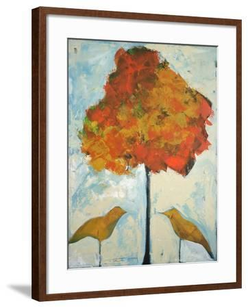 Gold Birds and Maple-Tim Nyberg-Framed Giclee Print