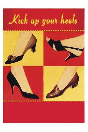 Kick Your Heels-Tim Wright-Stretched Canvas Print