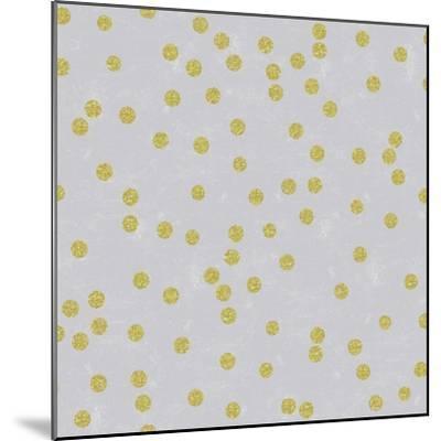 Grey Linen Golden Round Confetti-Tina Lavoie-Mounted Giclee Print