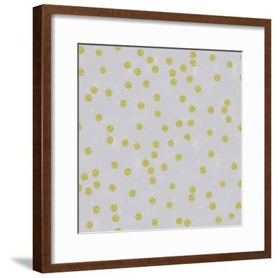 Grey Linen Golden Round Confetti-Tina Lavoie-Framed Giclee Print