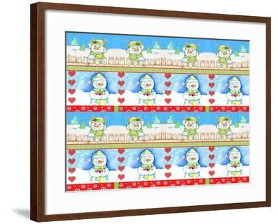 Christmas Pattern 2-Valarie Wade-Framed Giclee Print