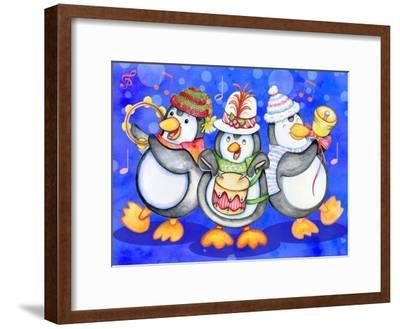 Penguin Percussion-Valarie Wade-Framed Premium Giclee Print