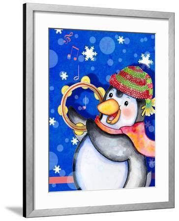 Penguin Tambourine-Valarie Wade-Framed Giclee Print