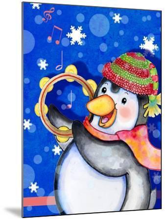 Penguin Tambourine-Valarie Wade-Mounted Giclee Print