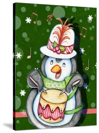 Penguin Drum-Valarie Wade-Stretched Canvas Print