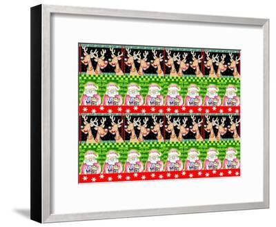 Christmas Pattern 1-Valarie Wade-Framed Premium Giclee Print
