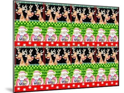 Christmas Pattern 1-Valarie Wade-Mounted Premium Giclee Print