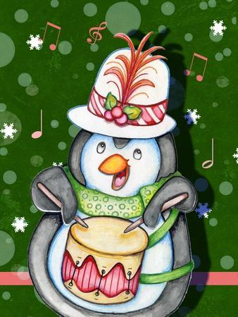 Penguin Drum-Valarie Wade-Giclee Print