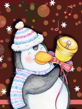 Penguin Bell-Valarie Wade-Giclee Print