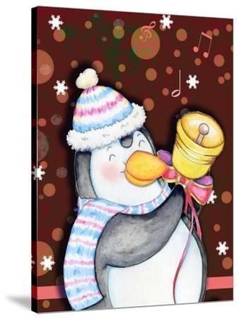 Penguin Bell-Valarie Wade-Stretched Canvas Print