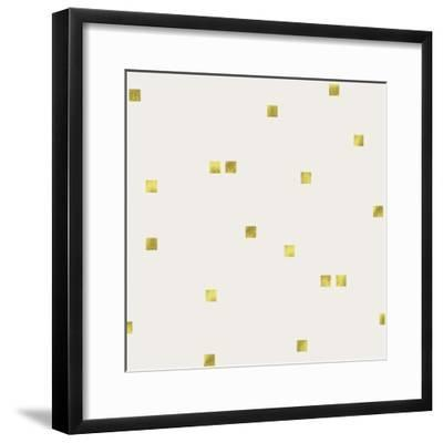 Light Cream Golden Squares Confetti-Tina Lavoie-Framed Giclee Print