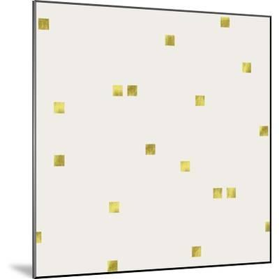 Light Cream Golden Squares Confetti-Tina Lavoie-Mounted Giclee Print